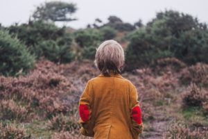 free-range boy in woods