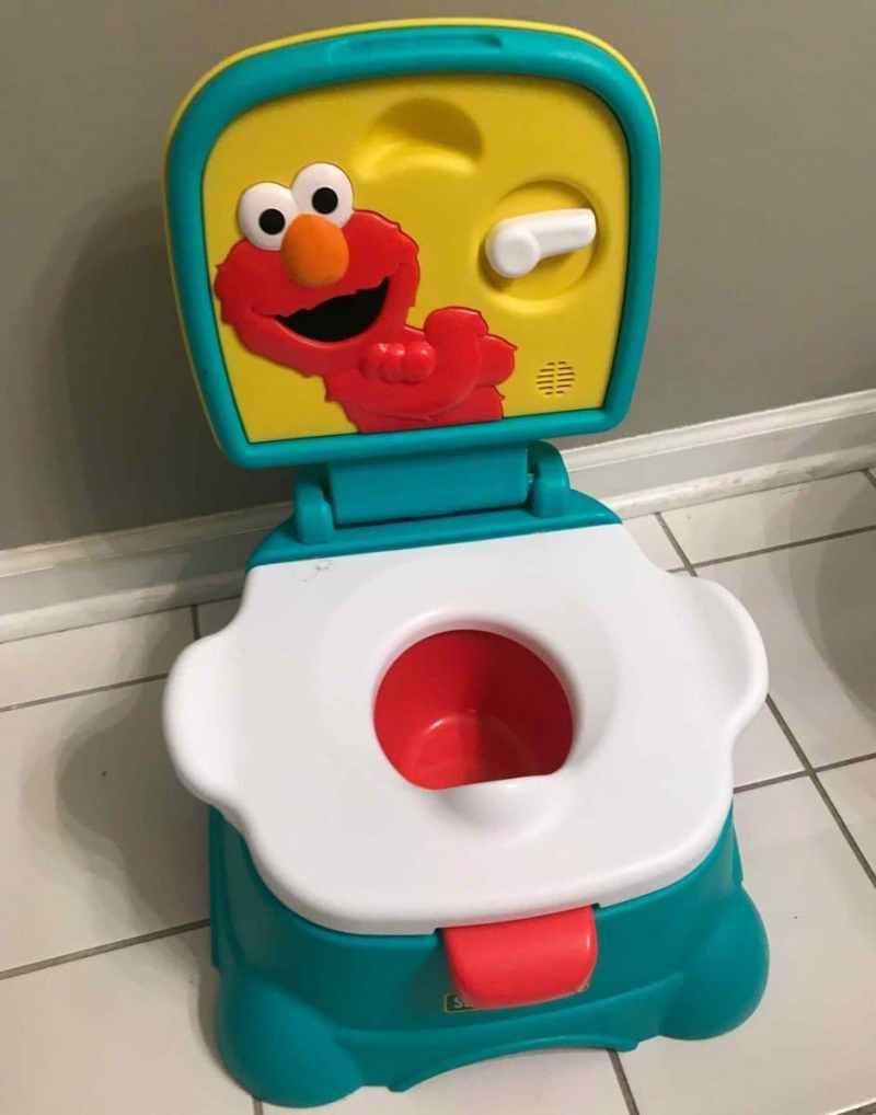 start potty training with an elmo toilet