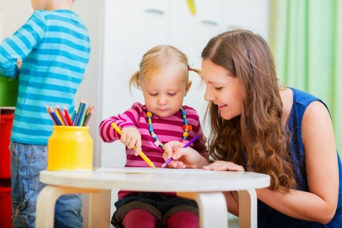 au pair with girl