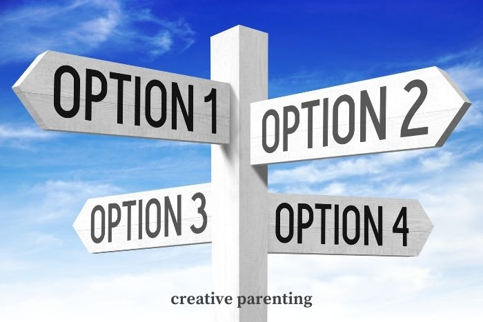 how to discipline a toddler: give options
