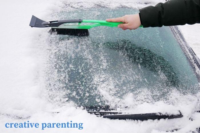 parenting hacks: ice scraper