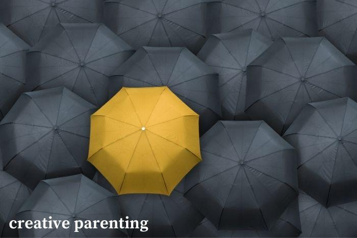 parenting hacks: inverted umbrella