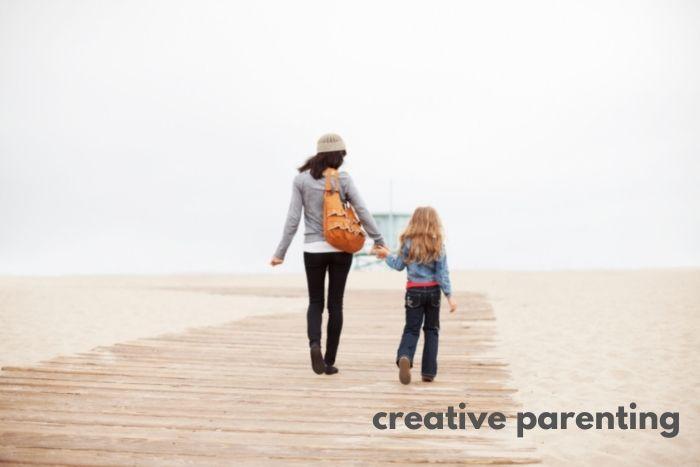 mindful parenting through beach walks