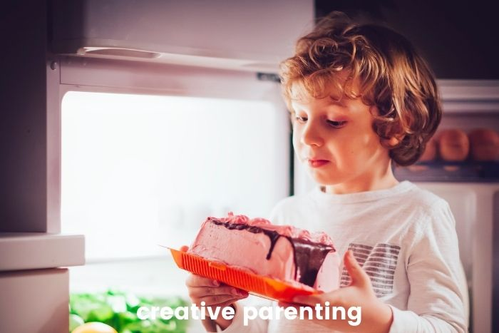 3-year-old sleep regression boy awake and wants cake
