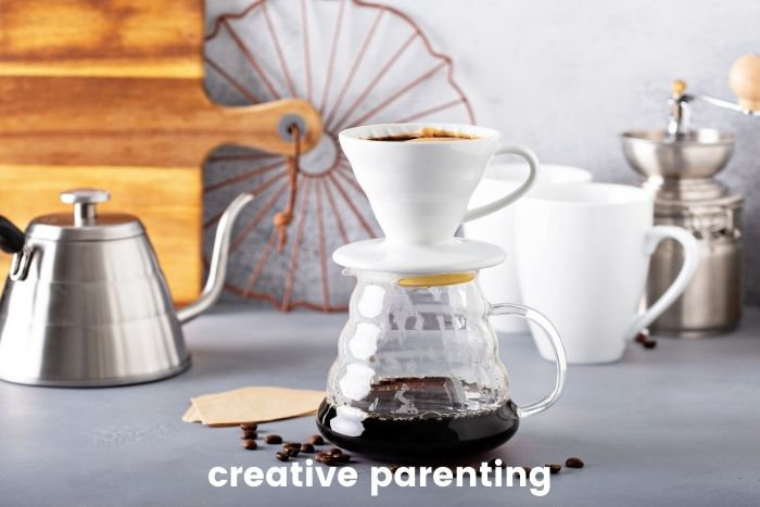 months since you had coffee with a friend? (making pour-over at home)