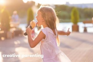 au pair life with girl eating ice cream